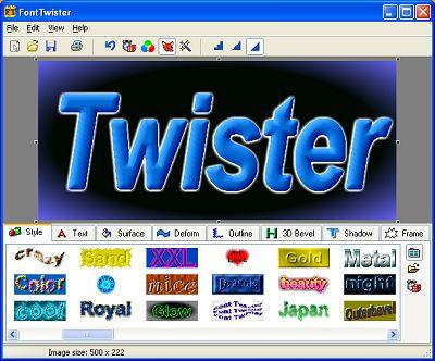 حصريا برنامج FontTwister1.0.3 2012 خيال وروعه في عمل التوقيعات و الشعارات و الص