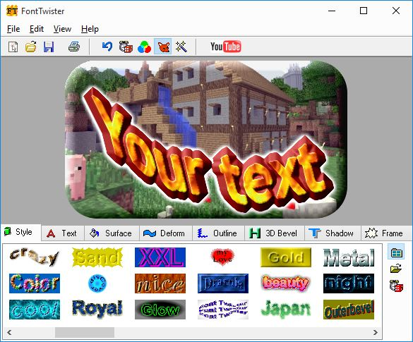Click to view FontTwister 1.5 screenshot